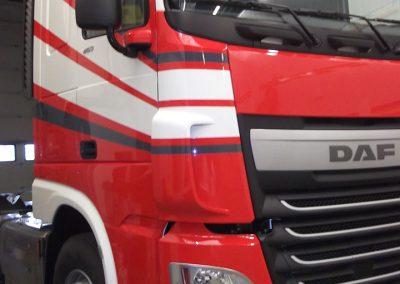 Herkleuren vrachtwagencabine