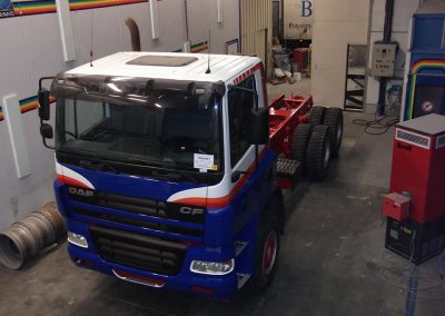 Herspuiten camion