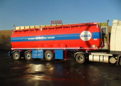 Spuiten en beletteren tankwagen West-Vlaanderen